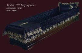 Драпепия за ковчег № 102 сатен черна